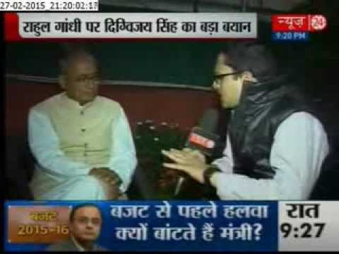 Exclusive interview with congress leader Digvijay Singh