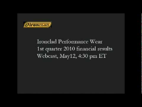 Ironclad Performance Wear Corporation - First Quarter 2010 Results