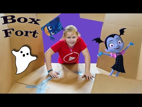 PJ Masks and Vampirina Ultimate Box Fort Surprise Egg Hunt with the Assistant
