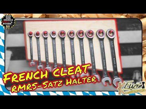 Praktisch! French Cleat Halter für Ringmaulratschenschlüssel - So schön kann funktionell sein.