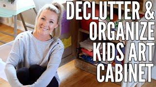 DECLUTTER & ORGANIZE MY KIDS ART CABINET ????✏️????