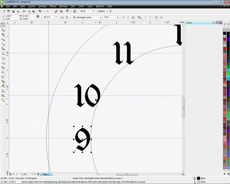easy clock faces for imprinting using coreldraw  method  1