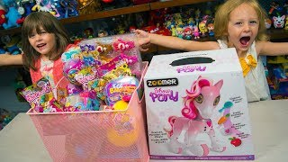 HUGE Zoomer Show Pony Surprise Toys Blind Bags Pikmi Pops Eggs Horse Toy for Girls Kinder Playtime