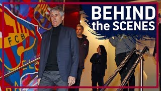 EXCLUSIVE | The unseen moments of Quique Setién's unveiling as Barça manager