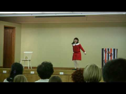 Ariadna - I Want It Now -Willy Wonka and the Chocolate Factory - Kiwanis Music Festival 2009 (HD)