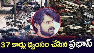 Prabhas Break Down's 37Cars in Saaho Movie Shooting | Prabhas Saaho Shooting | #Prabhas