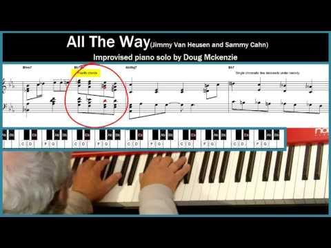 All The Way - Jazz Piano Tutorial