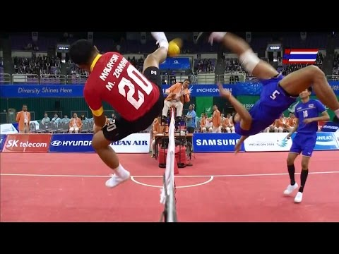 Thailand - Malaysia 2014 Asian Games Sepaktakraw -semifinal- video
