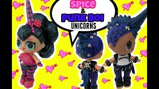 LOL Punk Boi UNICORN CUSTOM & NEW Spice Unicorn Too! DIY Craft Video & Doll Story