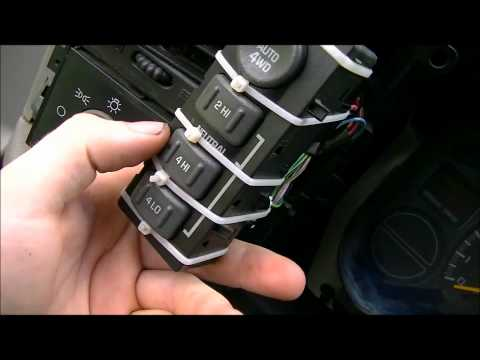 How To Install Replace Four Wheel Drive Transfer Case Shift Motor    Chevy    Silverado GMC Sierra