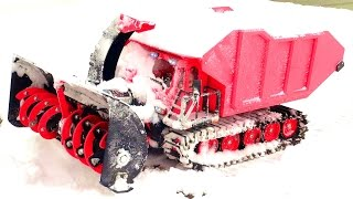RC SNOW KAT goes to WORK Clearing a Path! SPYKER KAT & Blower w/ DUMP Bed | RC ADVENTURES