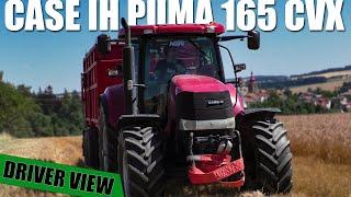 Cab View - Summer Harvest | CASE IH PUMA 165 CVX + ZDT AGRIMEGA 200