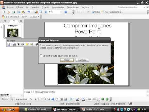 Comprimir Imegenes PowerPoint