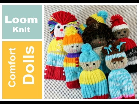 How To Loom Knit An Amigurumi Doll - With 2 Preemie Hats ...