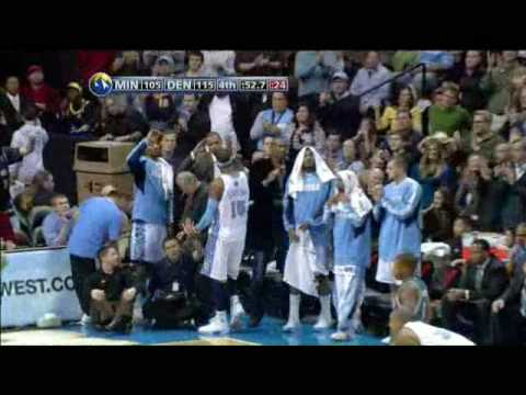 Carmelo Anthony 45pts vs T-Wolves 08/09 *33pts in a quarter NBA Record