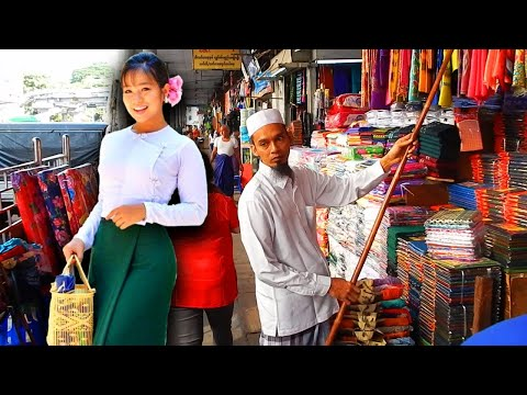 Shopping in Yangon, Myanmar - Theingyi Zay Market