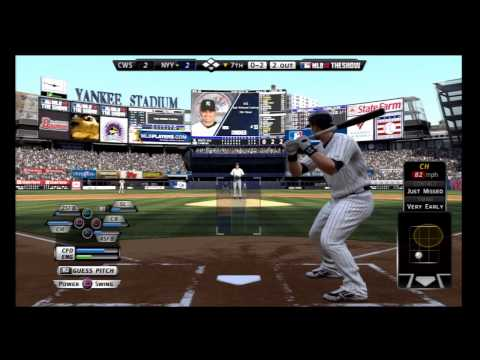 MLB 12 The Show Gameplay Yankees - MLB 12 The Show Gameplay Game 8 White Sox
