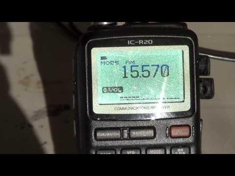 Icom IC R20 on Vatican Radio english 15570 khz