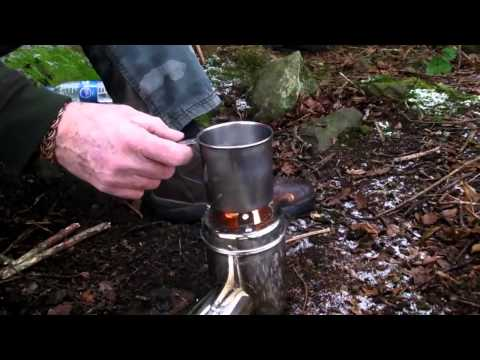Mini Back pack stainless portable Bush cooker Rocket Stove