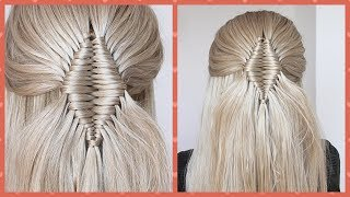 How To: Diamond shape Infinity Braid By Another Braid