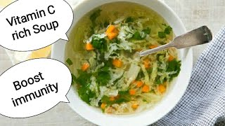 Vitamin C rich Soup/Boost immunity naturally/vegetable soup recipe/veg soup/weight loss soup recipes