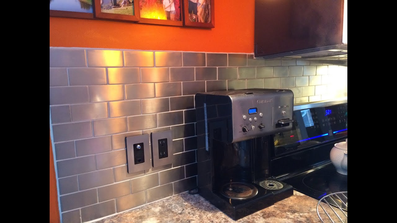 Stainless steel kitchen backsplash ideas youtube Kitchen backsplash ideas stainless steel