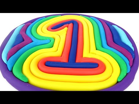 Play Doh Learn Number One Popsicles DIY Learn Colors Play Doh Modelling Clay Mighty Toys