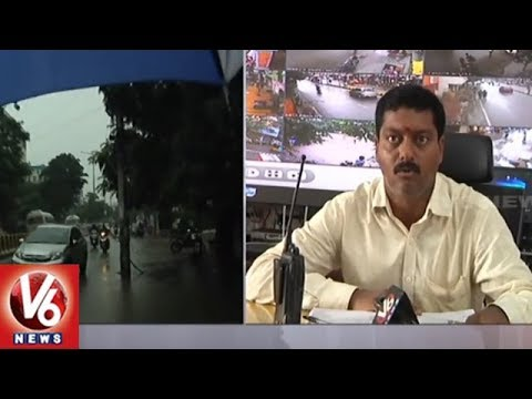 Heavy Rain Lashes Parts Of Hyderabad, GHMC Deploys Emergency Teams | V6 News