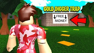 I Captured MOLLYBASKETRABBIT With A GOLD DIGGER TRAP.. You Won't Believe How She Escaped! (Roblox)