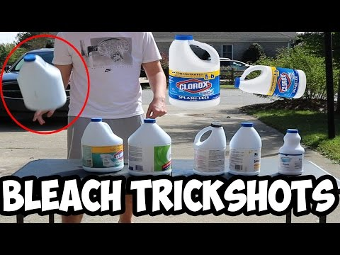 Bleach Bottle Flips (COP CALLED)