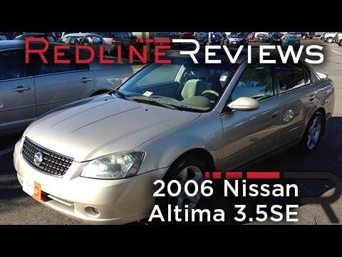 2006 Nissan Altima 3.5SE Review. Walkaround. Exhaust. Test Drive