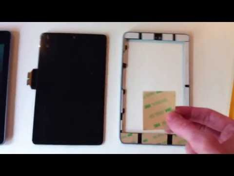 Google Nexus 7 Screen Repair (what tape to use) - Digitizer LCD Replacement ASUS Android N7 Tablet