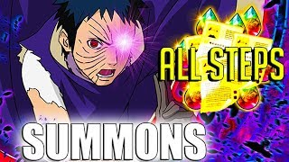 SUMMONING IN A BANNER WITH GOOD RATES??! NEW OBITO SUMMONS (Naruto Ultimate Ninja Blazing)