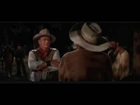 John Wayne killed by Bruce Dern (The Cowboys / 1972)