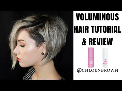SHORT HAIR TUTORIAL & REVIEW    PUFF ME