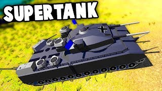 Massive German World War 2 Supertank Destroys Everything in Sight in Ravenfield!