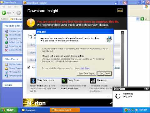 Norton Internet Security 2011 Beta Prevention Test.