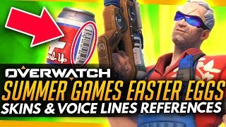 Overwatch   SUMMER GAMES 2017 EASTER EGGS (Skins & Voice Lines)