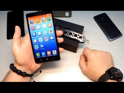 Lenovo Vibe Z K910 один из лучших на Snapdragon 800 с двумя сим картами распаковка и первый взгляд