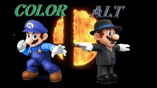 Smash Bros. Switch - Alternate costume & colors (ideas)