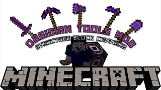 Obsidian Tools and Armor | Minecraft 1.10 Structure Block Mod