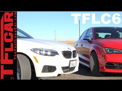 2015 Audi S3 vs BMW 228i Mashup Review & Drag Race: The Fast Lane Car Episode 6