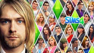 Los Sims 4 -RETO Creado un Sim DEMO - Kurt Cobain en los Sims 4