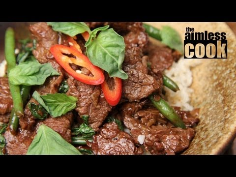 Thai Beef and Basil Stirfry &#8211; Thai Cooking