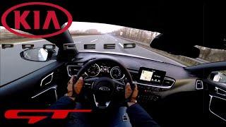 2019 KIA ProCeed GT 1.6 T-GDI (204 PS) POV Testdrive AUTOBAHN acceleration & Topspeed