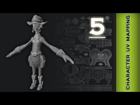 Autodesk Maya 2013 Tutorial - Character UV Mapping ( Accessories) Part 5