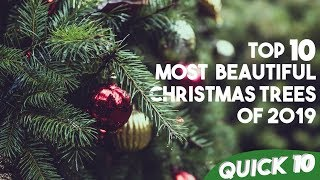 TOP 10 Most Beautiful Christmas Trees of 2019 | Quick 10 | 10TV