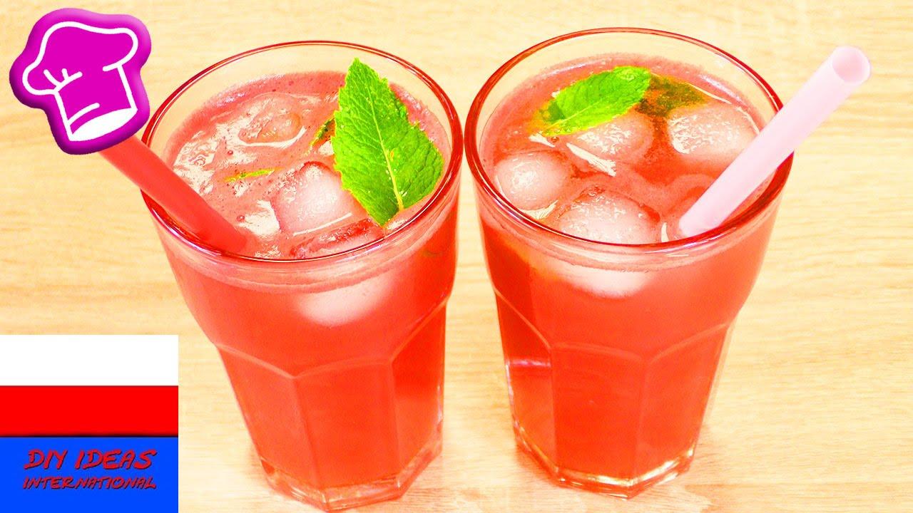 DIY Nektar arbuzowo - cytrynowy   pyszna lemoniada bez cukru   letnie orzeźwienie   Party