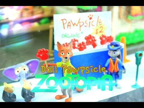 How to Make Doll PAWpsicles - ZOOTOPIA - EASY Doll Crafts
