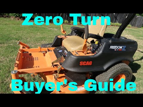 Buying a Zero Turn Mower Guide - New, Used, Brands, Models